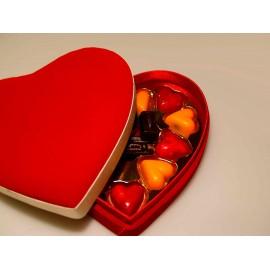 Bombones de corazones de chocolate