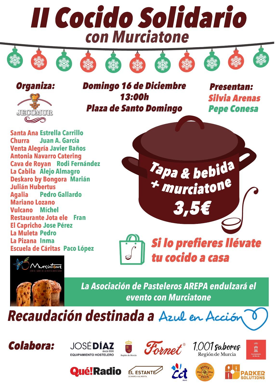 Cartel de El Cocido Solidario