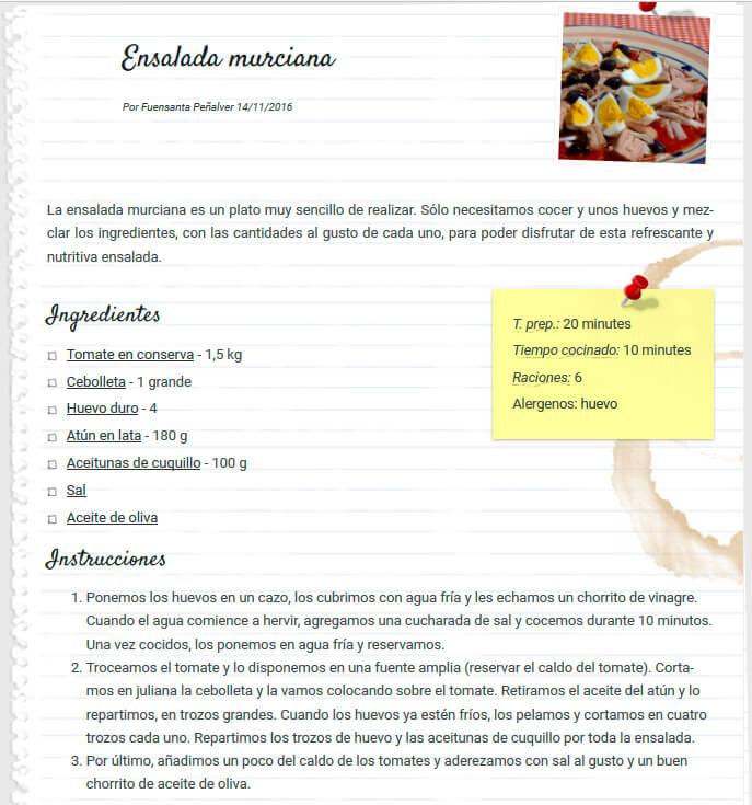 receta ensalada murciana